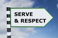 Serve and Respect concept Royalty Free Stock Image