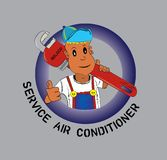We serve service call service. With our team ready to receive service call air conditoner and others Royalty Free Stock Images