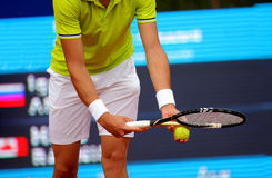 Serve tennis Royalty Free Stock Photo