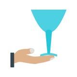 Serve Wine stock illustration