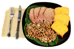 Served American South Tradition New Years Day meal Stock Photo
