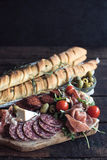 Served appetzier with baguette Royalty Free Stock Photos