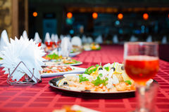 Served banquet table Stock Image