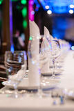 Served for a banquet table in luxury restaurant Royalty Free Stock Images