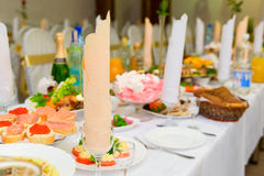Served for a banquet table Stock Image