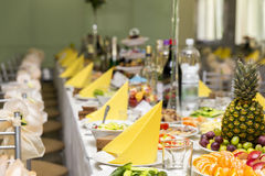 Served for a banquet table Royalty Free Stock Image