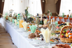 Served for a banquet table Royalty Free Stock Images