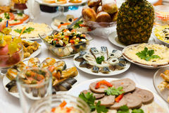 Served for a banquet table Royalty Free Stock Photo
