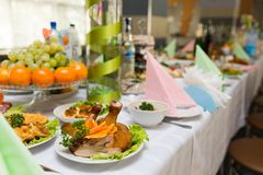 Served for a banquet table Stock Photography