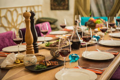 Served for a banquet table Royalty Free Stock Photography
