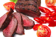 Served beef steak Royalty Free Stock Photo