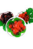 Served berrys in transparent glass Stock Images