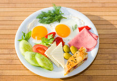 Served breakfast Royalty Free Stock Photo