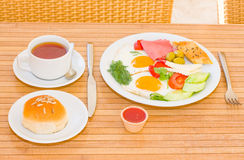 Served breakfast Stock Photography