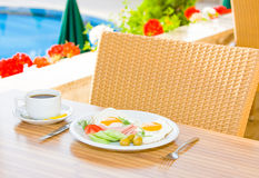 Served breakfast Royalty Free Stock Photos