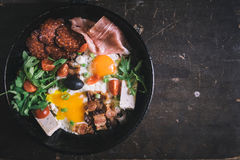 Served breakfast Stock Images