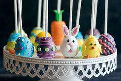 Served cake pops with Easter decoration Stock Images
