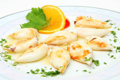 Served calamari Royalty Free Stock Photography