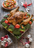 Served Christmas dinner Stock Images