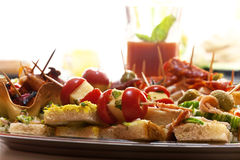 Served delicious appetizer Stock Photos