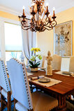 Served dining table in luxury  house Royalty Free Stock Photos