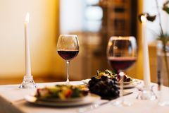 Served dinner Royalty Free Stock Image