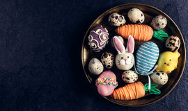 Served Easter plate Royalty Free Stock Photography