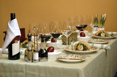 Served Easter table Royalty Free Stock Photo