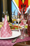 The served festive table Stock Image
