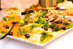 Served food Stock Photography