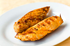 Served fresh gold meat cutlet royalty free stock image