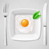 Served fried egg Stock Image