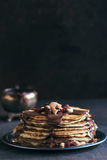 Served homemade pancakes Royalty Free Stock Photo