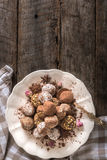 Served homemade pralines Royalty Free Stock Photos