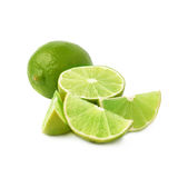 Served lime fruit composition isolated over the Royalty Free Stock Images
