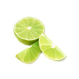 Served lime fruit composition isolated over the Stock Photo