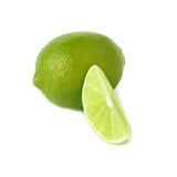 Served lime fruit composition isolated over the Royalty Free Stock Photos
