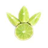 Served lime fruit composition isolated over the Stock Images