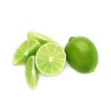 Served lime fruit composition isolated over the Stock Photography
