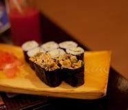 Served maki rolls Stock Images