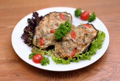 Served meat meal Royalty Free Stock Photography