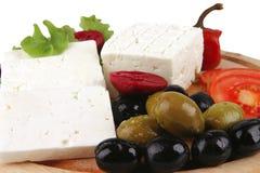 Served mediterranean dinner Stock Images