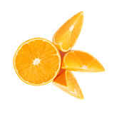 Served orange fruit composition isolated over the Stock Photos