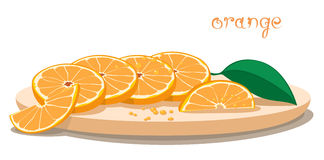 Served Oranges On Plate Royalty Free Stock Image