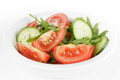 Served plate with mix salad Royalty Free Stock Images