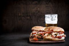 Served pub food Stock Images