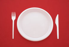 Served on a red background Royalty Free Stock Images