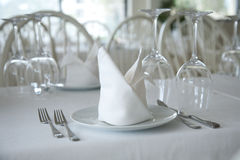 Served restaurant tables Royalty Free Stock Photos