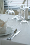 Served restaurant tables Royalty Free Stock Image