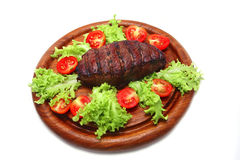 Served roasted beef meat steak Royalty Free Stock Images